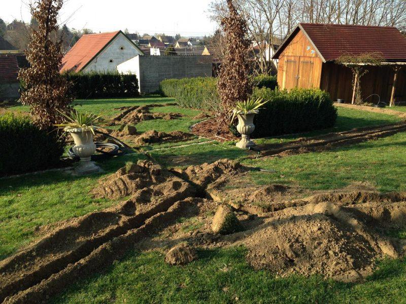 Baustelle Bewässerung
